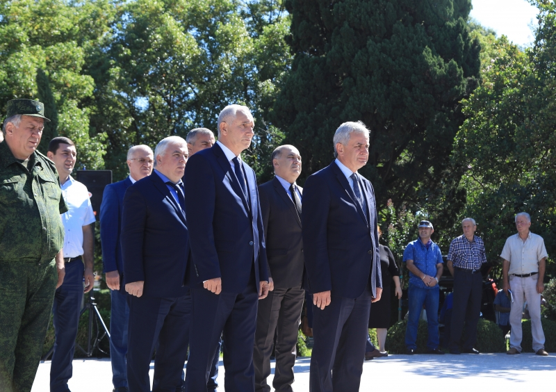 The President Attended the Ceremony of the Reburial of the Remains of the Hero of Abkhazia Irina Gotseridze in the Park of Military Glory