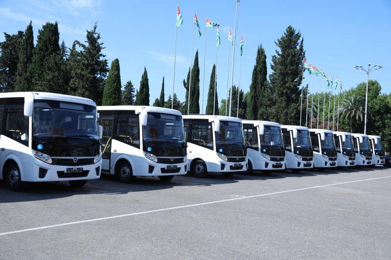 The Giving of Buses to the Districts of the Republic of Abkhazia Acquired with the Funds of the Investment Program Has Taken Place